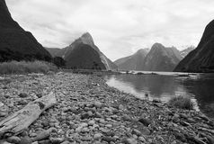 Mitre Peak. In Milford Sound National Park, New Zealand Stock Image