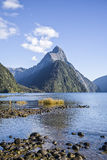 Mitre Peak in Milford Sound, New Zealand Royalty Free Stock Photos