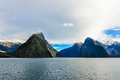 The Mitre Peak in the Milford Sound, New Zealand Royalty Free Stock Image
