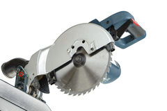 Mitre saw blade isolated Royalty Free Stock Images