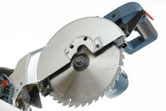 Mitre saw blade isolated Stock Image
