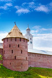 Mitropolichya tower and Clock tower.Great Novgorod Stock Photo