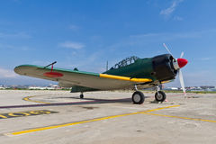 The Mitsubishi A6M Zero WWII stock images
