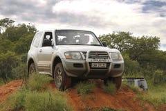 Mitsubishi argenté Pajero GLS V6 Photographie stock