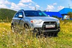 Mitsubishi ASX. ASHA, RUSSIA - AUGUST 22, 2017: Motor car Mitsubishi ASX at the countryside Stock Images