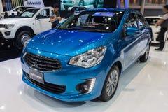 Mitsubishi Attrage on display Royalty Free Stock Images