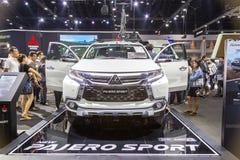 Mitsubishi-auto bij de Internationale Motor Expo 2016 van Thailand Royalty-vrije Stock Foto's