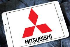Mitsubishi car logo. Logo of mitsubishi motor brand on samsung tablet Stock Photography