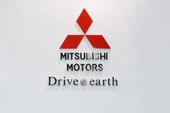 Mitsubishi dreht Zeichen durch Lizenzfreie Stockfotos