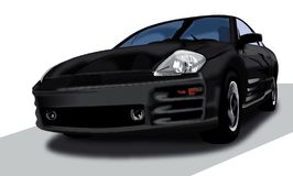 Mitsubishi Eclipse Illustration stock images