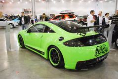 Mitsubishi Eclipse Spyder IV in `Crocus Expo`, 2012 Royalty Free Stock Image