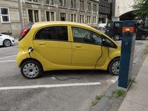 Mitsubishi electric car recharging Royalty Free Stock Photography
