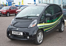 Mitsubishi electric car in UK Stock Photos