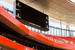 Mitsubishi Electric scoreboard at The Emirates. Stock Images