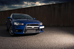 Mitsubishi evolution Royaltyfri Foto