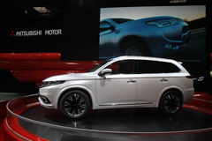Mitsubishi FWD hybrid at Paris Motor Show Royalty Free Stock Image