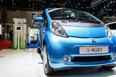 Mitsubishi i-MiEV Sport Air, Motor Show Geneve 2015. Mitsubishi reveals sporty i-MiEV-based electric concept at the 85th International Geneva Motor Show in Stock Images