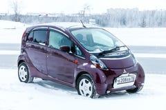 Mitsubishi i. Novyy Urengoy, Russia - January 15, 2018: Motor car Mitsubishi i in the city street Stock Images