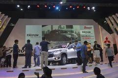Mitsubishi Jedzie motorowego samochód przy Bangkok Międzynarodową Uroczystą Motorową sprzedażą 2015 Obrazy Royalty Free