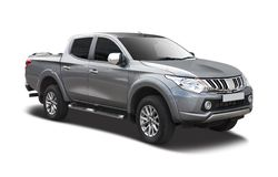 Mitsubishi L200. Pick up truck side view isolated on white Royalty Free Stock Image