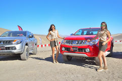 Mitsubishi l200 4x4 vehicle presentation peru Royalty Free Stock Photography