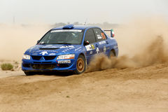 Mitsubishi Lancer #21 - Kuwait International Rally Royalty Free Stock Photos