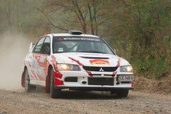 Mitsubishi Lancer d'équipe de rassemblement de Miko Photo stock