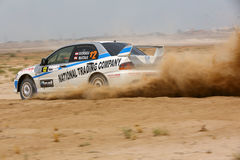 Mitsubishi Lancer Evo - 2012 Kuwait Rally Stock Photos