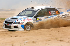 Mitsubishi Lancer Evo IX - 2012 Kuwait Rally Stock Images