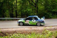 Mitsubishi Lancer Evo IX on Miskolc Rally Hungary. 2016 Stock Images