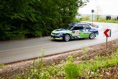 Mitsubishi Lancer Evo IX on Miskolc Rally Hungary. 2016 Stock Photography