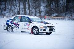 Mitsubishi Lancer Evo IX rally car Stock Photos