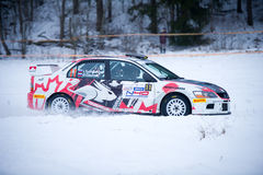 Mitsubishi Lancer Evo IX rally car Stock Photo