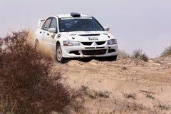 Mitsubishi Lancer Evo - reunião de Kuwait Foto de Stock Royalty Free