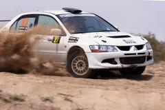 Mitsubishi Lancer Evo VIII - il Kuwait Rallyl Immagini Stock Libere da Diritti