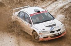 Mitsubishi Lancer Evo VIII, rally car. Stock Image
