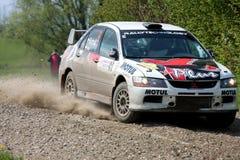 Mitsubishi Lancer EVO WRC racing Stock Image