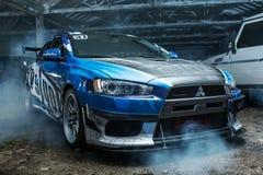 Mitsubishi Lancer-Evolutie X die stemmen Stock Afbeeldingen