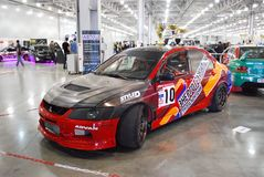 Mitsubishi Lancer Evolution VIII in `Crocus Expo`, 2012 Stock Image