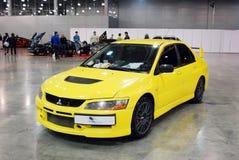 Mitsubishi Lancer Evolution VIII in `Crocus Expo`, 2012 Stock Photos