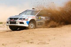Mitsubishi Lancer - Kuwait Rally stock photography