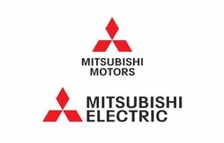 Mitsubishi logo Royalty Free Stock Photo