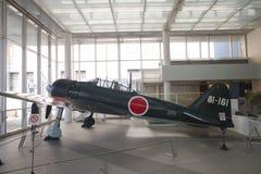 Mitsubishi A6M Zero en el museo de Yushukan Fotos de archivo