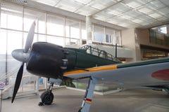Mitsubishi A6M Zero en el museo de Yushukan Fotografía de archivo