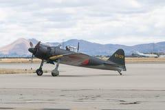 Mitsubishi A6M-5 - Zero na pokazie obrazy stock
