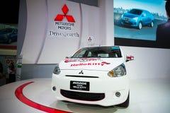 Mitsubishi meets Hello Kitty on display Stock Image