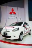 Mitsubishi meets Hello Kitty on display Stock Photos