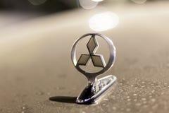 Mitsubishi Motors logo on a car Royalty Free Stock Photography