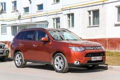 Mitsubishi Outlander. NOVYY URENGOY, RUSSIA - JUNE 13, 2014: Motor car Mitsubishi Outlander in the city street Royalty Free Stock Photos