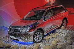 Mitsubishi Outlander PHEV stock afbeeldingen